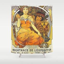 Alphonse Mucha World's Fair St Louis Missouri 1904 Shower Curtain