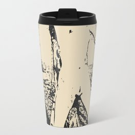 Slave girl, BDSM, Bondage in forest, woman tied to a tree, fetish artwork Travel Mug