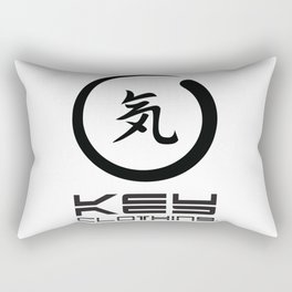 Key Clothing Canada Kanji Brushstroke Black Logo Rectangular Pillow