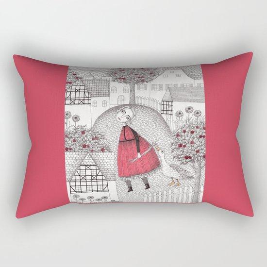 The Old Village Rectangular Pillow
