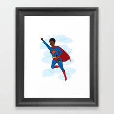 BDD Superman Framed Art Print