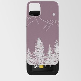 Mountains and Forest at Dusk iPhone Card Case