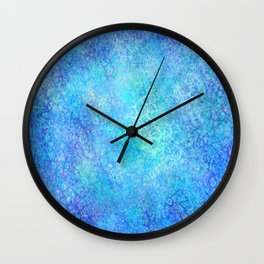 Ice Cold Textured Abstract Wall Clock