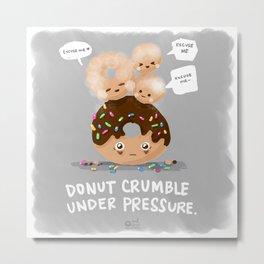 Donut Crumble Metal Print