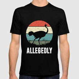 Allegedly Ostrich Retro T-shirt