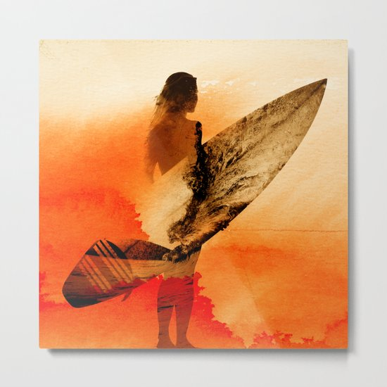 Surfers Morning Metal Print