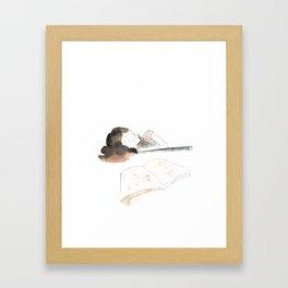 Homework Framed Art Print
