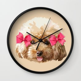 Baby Poodle Wall Clock