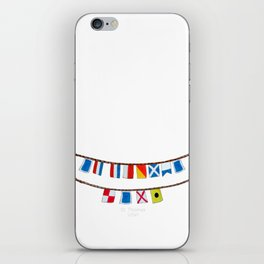 St Thomas Nautical Flags iPhone Skin