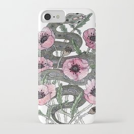 Snake and Poppies iPhone Case