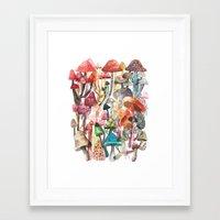 mushroom Framed Art Prints featuring Mushroom by Gel Jamlang