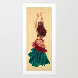 Bellydancer Art Print