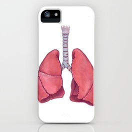 Human Anatomy Lungs iPhone Case