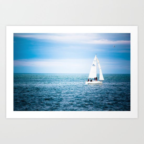 Howth sailboat Art Print