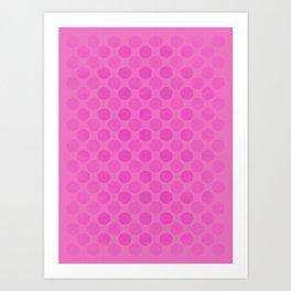 Faded pink circles pattern Art Print