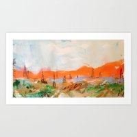 oklahoma Art Prints featuring Oklahoma by Musya Herzog