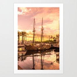 Shoreline Long Beach, California Art Print