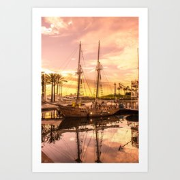Shoreline Long Beach, California Art Print