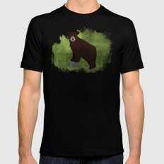 Black Bear SMALL Black Mens Fitted Tee