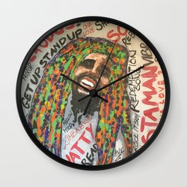 lyrics,songs,reggae,dancehall,roots,fan art,rasta,weed,love Wall Clock