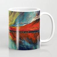 aurora Mugs featuring Aurora by Michael Creese