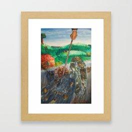 Greedy Framed Art Print