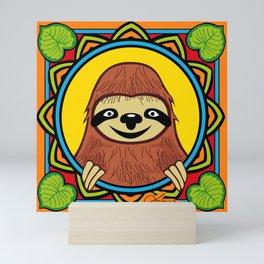 Happy Sloth Mini Art Print