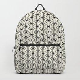 Flower of Life Print - Black/Cream Backpack