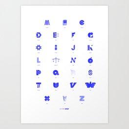 Word in Letter - Alphabet Art Print