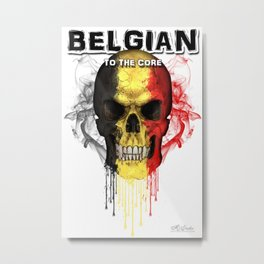 To The Core Collection: Belgium Metal Print