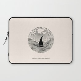 IN THE WAVES OF CHANGE WE FIND OUR TRUE DIRECTION Laptop Sleeve