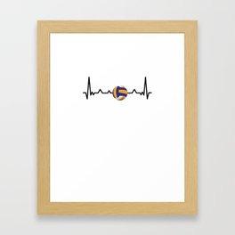 Volleyball player beach volleyball heartbeat EGK Framed Art Print