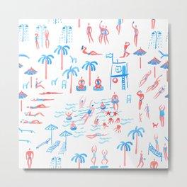 beach club pattern Metal Print
