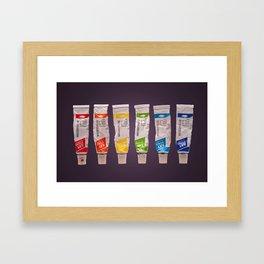 watercolor tubes Framed Art Print