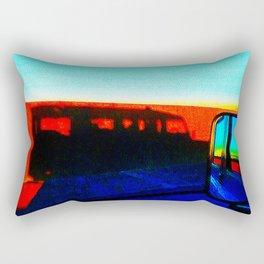 Landrover in shadow Rectangular Pillow