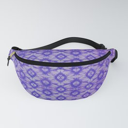 blue tie dye in small repeat Fanny Pack