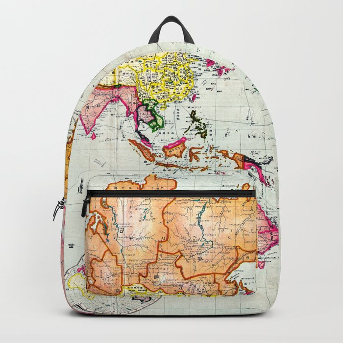 Colorful Antique Map of the World Backpack
