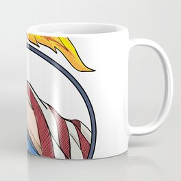 Hand Holding Liberty Torch Drawing Color Coffee Mug