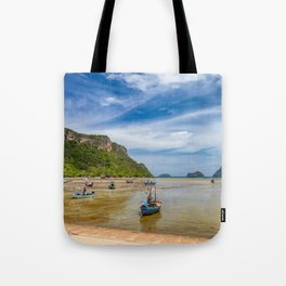 Fishing Boats Thailand Tote Bag