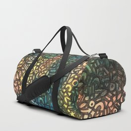 Rainbow, Arrows, Stars, Hearts Abstract Painting Duffle Bag
