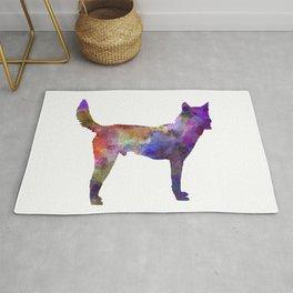Korea Jindo Dog in watercolor Rug