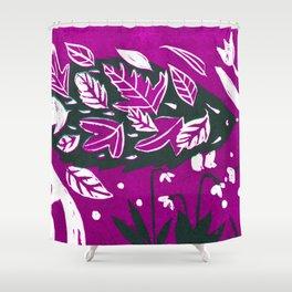 Hedgehog - Fuchsia Palette Shower Curtain