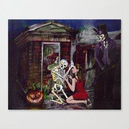 RARE LOVE, Halloween, Original art Canvas Print