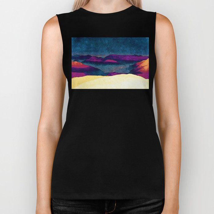 Colorful Mountains Landscape Biker Tank