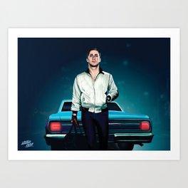 'Drive' Ryan Gosling Art Print
