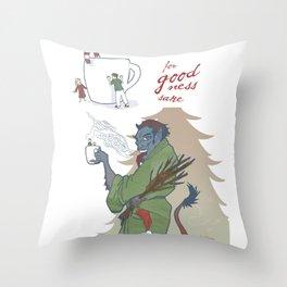 A Kup of Krampus Throw Pillow