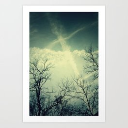 painting through the sky . Art Print