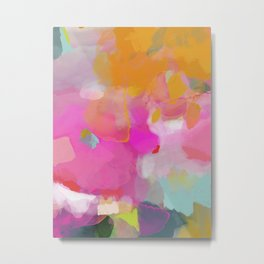 pink sun clouds abstract Metal Print