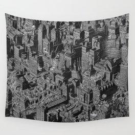 The Fantasy City. Urban Landscape Illustration. Wall Tapestry