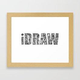 iDRAW_BLACK Framed Art Print